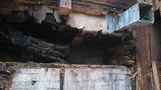 Image of a rotten foundation